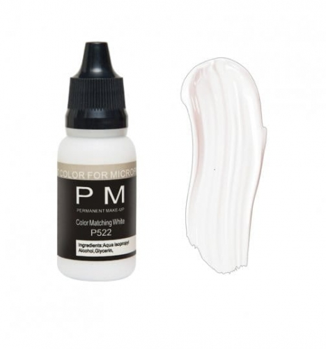 Pigment PM MATCHING WHITE P522 do makijażu permanentego 15ml